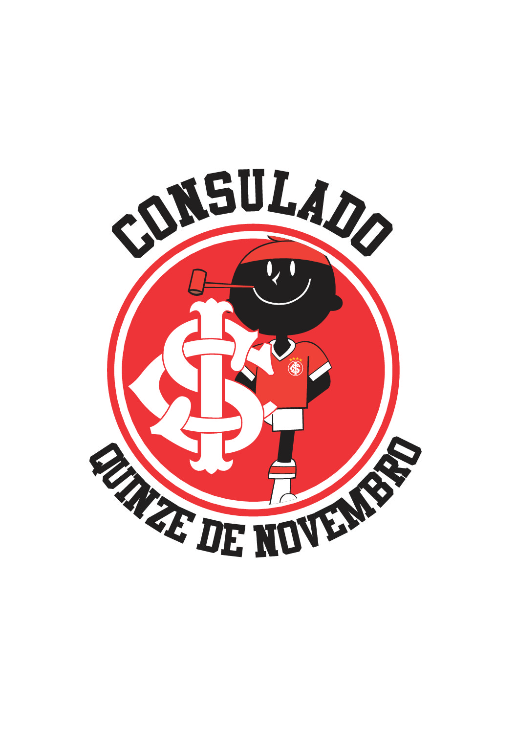 CAMISETAS PARA TORCIDA DO INTERNACIONAL DO CONSULADO DE QUINZE DE NOVEMBRO/RS.
