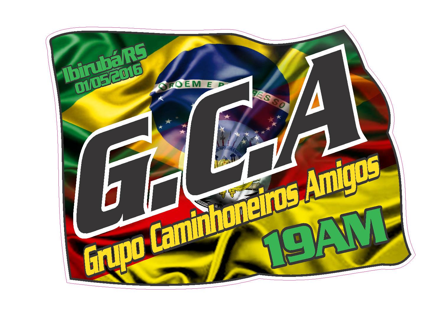 CAMISETAS PARA G.C.A GRUPO DE CAMINHONEIROS AMIGOS DE IBIRUBÁ/RS.