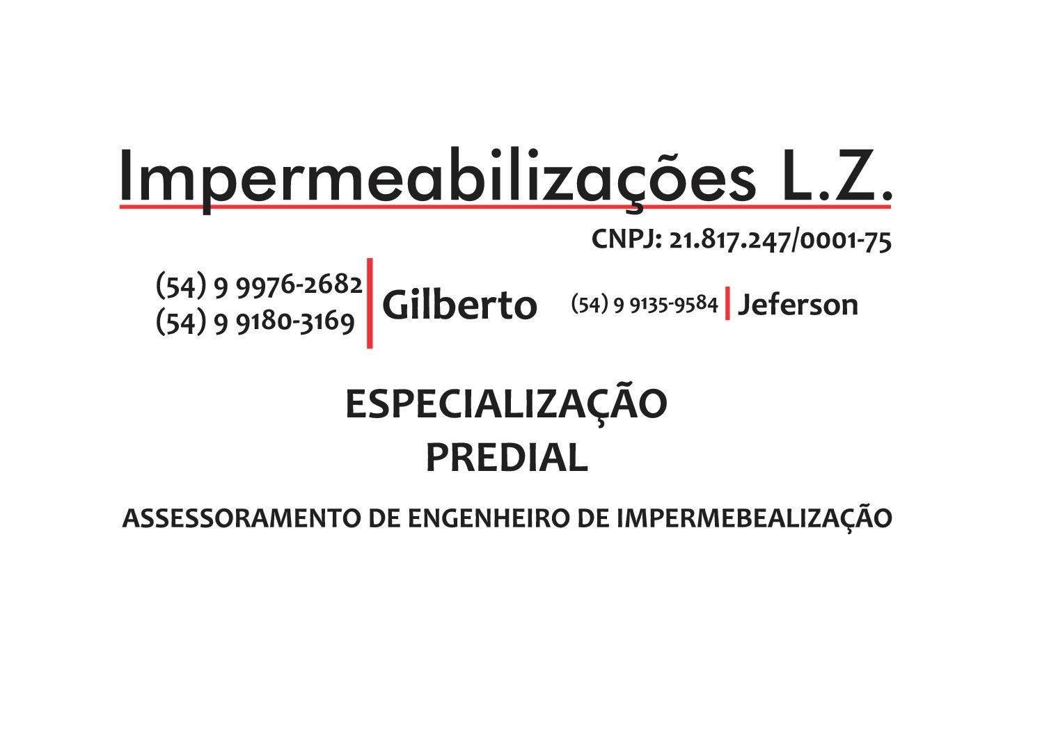 CAMISETAS PERSONALIZADAS PARA EMPRESA IMPERMEABILIZAÇÃO L.Z. DA CIDADE DE IBIRUBÁ/RS.