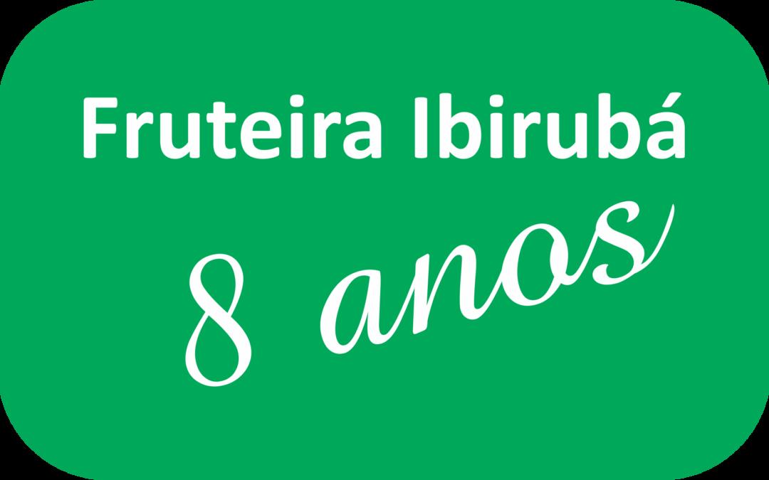 CAMISETA PV (POLIVISCOSE) PARA ANIVERSÁRIO DE 8 ANOS DA FRUTEIRA IBIRUBÁ.