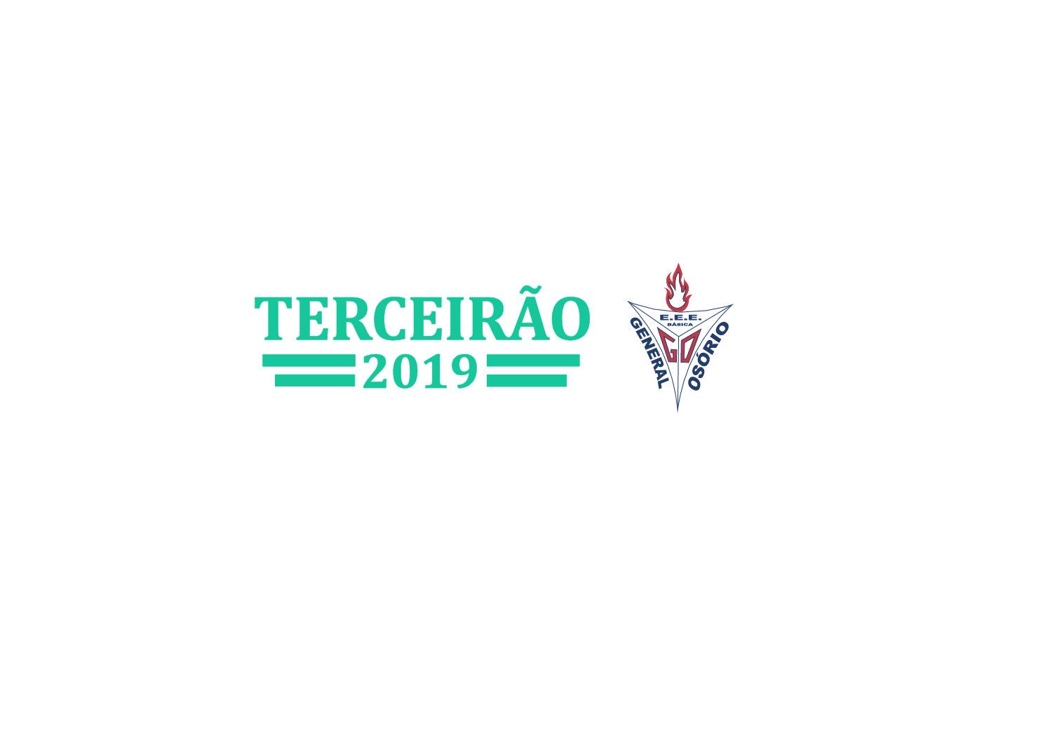 Moletom canguru com logo bordado ponto a ponto para Terceiro ano da Escola General Osório, da cidade de Ibirubá/RS.