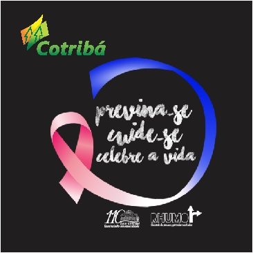 Camisetas com estampa serigrafada, referente ao Outubro Rosa, para empresa Cotribá da cidade de Ibirubá-RS.