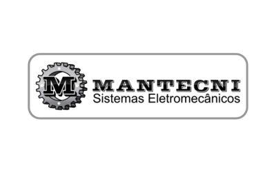 Camisetas personalizadas com escudo impresso e bordado contorno, para a empresa Mantecni Sistemas Eletrônicos, da cidade de Ibirubá/RS.